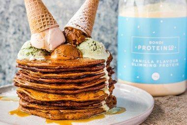Mocha Protein Pancakes Recipe