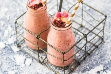 Raspberry Cookie Dough Protein Shakes