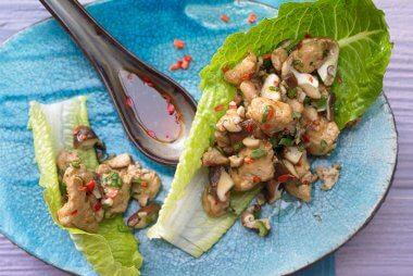 Super quick Asian chicken lettuce cups recipe