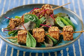 Marinated Tofu and Sesame Seed Brochettes recipe.
