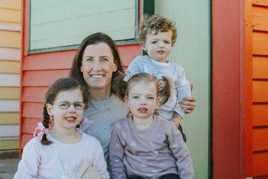 Jacqui Cooper and her three children