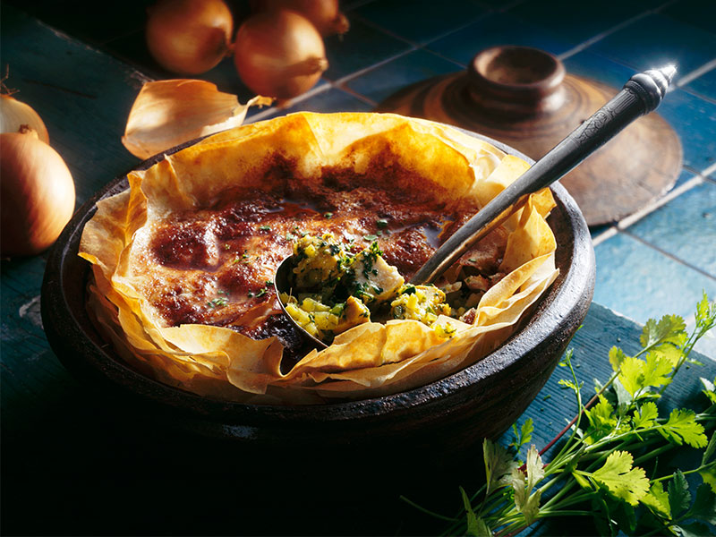 Moroccan Chicken Pie