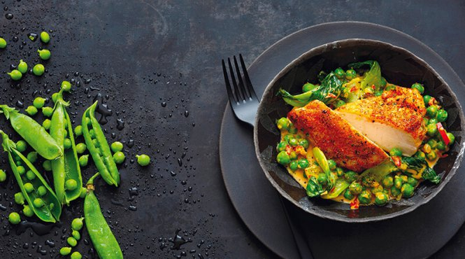 chicken and pea curry