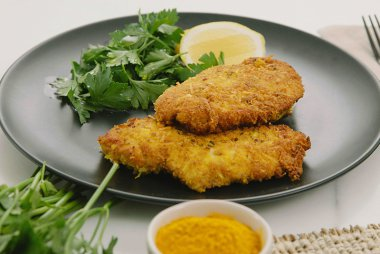 coconut crumbed chicken
