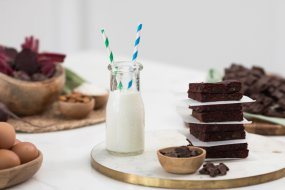 cacao beet brownies