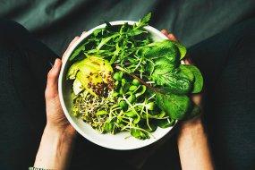 green vegan bowl