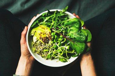 Green Vegan Breakfast Bowl