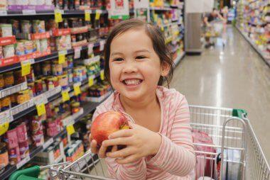 healthy shopping trolley