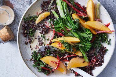 black rice and mango salad