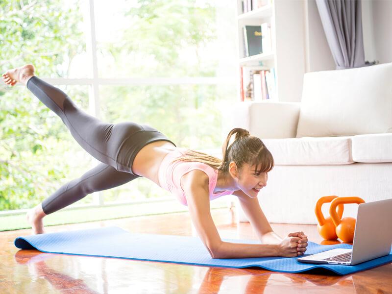 coronavirus fitness at home
