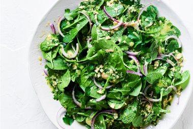 luke hines baby spinach salad