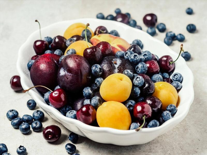 low calorie fruit and veg