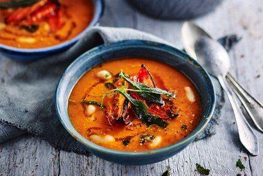 tomato white bean soup